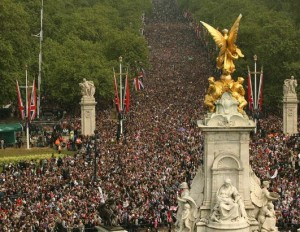 the Mall during prince william's wedding