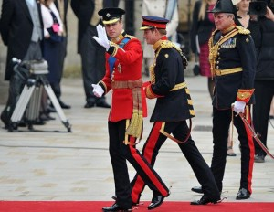 prince william and harry at Westminster Abbey